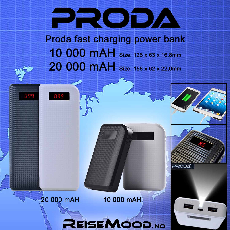 Proda PowerBank 10000-20000mah
